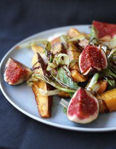 schnell & lecker : gebackene süßkartoffeln und frische feigen