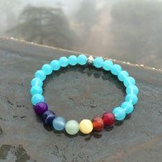 sky bracelet Chakra Beads, Reiki Chakra, Chakra Crystals, Chakra Bracelet, Chakra Meditation, Chakra Healing, Healing Bracelets, Gemstone Bracelets, Seven Chakras