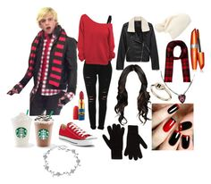 """Starbucks with Ross"" by vivianr5 ❤ liked on Polyvore featuring Forever 21, Maidenform, Frame Denim, Converse, Topshop, French Connection, Yves Saint Laurent, Bottega Veneta, COVERGIRL and Belec"
