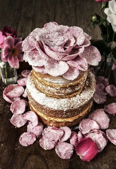 Rosewater Cardamom and Orange Genoese Cake