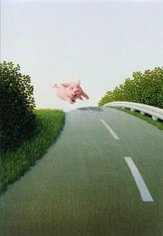 Michael Sowa Highway Pig print for sale. Shop for Michael Sowa Highway Pig painting and frame at discount price, ships in 24 hours. Cheap price prints end soon. Michael Sowa, Wilhelm Busch Museum, Art Beauté, Illustrator, Pig Art, Amelie, Animal Paintings, Figure Painting, Contemporary Artists