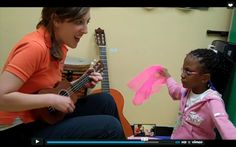 {VIDEO SERIES Part 3} Watch to see how I use an original song, two different colored scarves and my uke to address attention skills during music therapy.