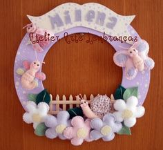 Arte Lembranças: enfeite porta maternidade