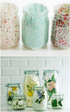 5 new ideas for using mason jars mason jars стеклянные банки Pot Mason, Mason Jar Gifts, Mason Jar Diy, Mason Jar Vases, Wine Bottle Crafts, Jar Crafts, Diy And Crafts, Crafts To Make And Sell Unique, Do It Yourself Inspiration