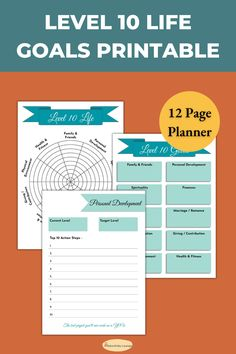 Level 10 life goal setting planner to set goals in 10 areas of life. Wheel of life reflection journal. New year goal planning printable Printable planner Time Management Techniques, Time Management Tools, Goal Setting Life, Habit Formation, New Year Goals, Wheel Of Life, Physical Environment, Goal Planning, Mindset Quotes