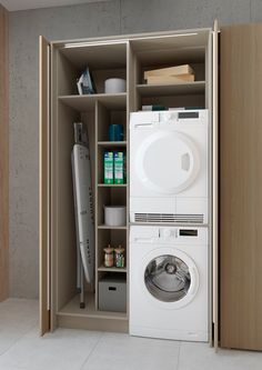 Modern Laundry Rooms, Laundry Room Layouts, Laundry Room Remodel, Laundry In Bathroom, Small Bathroom, Small Utility Room, Utility Room Designs, Laundry Cupboard, Laundry Room Organization