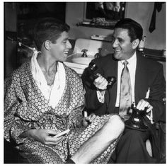 Jerry Lewis and his dad. I love This picture.