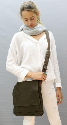 SALE Leather messenger bag women leather bags by LIMORGALILISTUDIO
