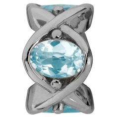 Light Blue Sky Topaz Heaven Silver 21550 Endless Jewellery Charm. Available from Identity The Jewellers at: http://www.identityonline.biz/products/Endless-Jewelry/1652