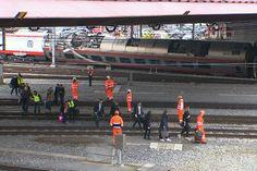 Coping with a derailed train in Lucerne train derails