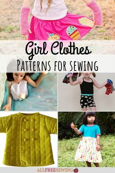 50+ Free Girl Clothes Patterns for Sewing Sewing Projects For Kids, Sewing For Kids, Craft Gifts, Diy Gifts, Clothes Patterns, Sewing Patterns, Free Girl, Free Clothes, Babys