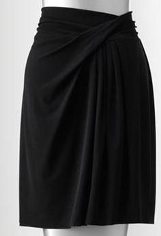 Simply Vera Vera Wang Simply Separates Pleated Crepe Skirt