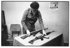 In a secret location in County Donegal in the Irish Republic, a trainee member of the Provisional Irish Republican Army (IRA) goes through assault rifle manuals while waiting for dawn, when he will go to nearby training camps, August Bobby Sands, Northern Ireland Troubles, Irish Republican Army, The Ira, Irish News, Military Drawings, Erin Go Bragh, Secret Location, Donegal