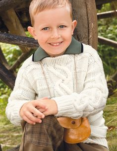 Verena Knitting Magazine – Top European Knitting Fashion -boys knit sweater cables Pattern