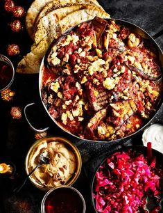 Persian aubergine bake Try our super easy layered Persian aubergine bake with crumbled feta. This vegetarian recipe is a simple and comforting one-pot to make over the winter months. Plus, it's gluten free too