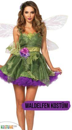 Feen Fee Elfe Tinkerbell Kostüm Kleid Elfen Waldfee Feenkostüm Elfenkostüm Wald