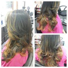#hair #cabello #sunkissed #honey #miel #marron #besosDeSol #hairstylist #hairdresser #estilista #peluquero #panama #pty #axel #axel04