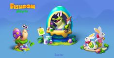 Casual Art, Easter Games, Game Ui Design, Isometric Art, Game Background, Easter Art, Game Icon, Environment Concept, Game Assets