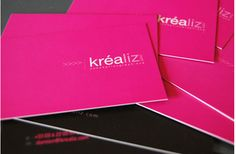 A CMYK print job that uses a solid block on magenta on the front and a solid block of black on the back. Minimalist Business Cards, Unique Business Cards, Magenta, Commercial Printing, Calling Cards, Graphic Design Inspiration, Design Ideas, Branding Design, Branding Ideas