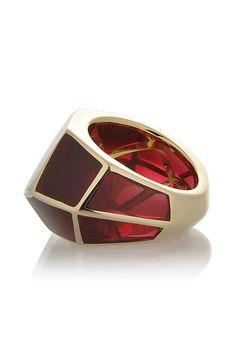 ISHARYA   LOUVRE Red Wine Resin Ring