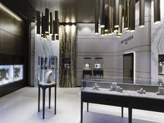 Historic Swiss watch manufacturer Bucherer has opened a new store in St.Moritz to reflect its brand's aesthetic overhaul.    Seeking to convey a modern design while not overriding its traditional glam-factor, Bucherer commissioned Stuttgart-based Blocher Blocher Partners to realize the new shop.    The interior boasts a sophisticated aesthetic, thanks to an 'atmospheric spatial composition and combination of the finest materials.'