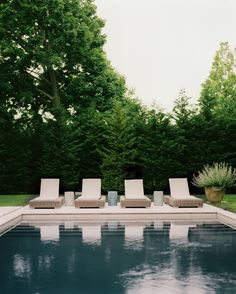 Pool from Lonny Magazine June/July Photo by Patrick Cline. Outdoor Pool, Outdoor Spaces, Outdoor Gardens, Indoor Outdoor, Outdoor Living, Design Patio, Living Pool, House Of Turquoise, Beautiful Pools