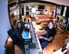 Tom making the music of my life. I've been in that room!!!!!! Almost a year ago