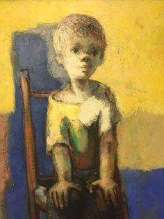 Original Jose Montanes Modernist Oil Painting Portrait of a Whistling Boy Spain Spain, Oil, Modernism, The Originals, Portrait, Antiques, Painting, Vintage, Group