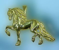 Friesian Pendant JET6229 - the Gorgeous Horse
