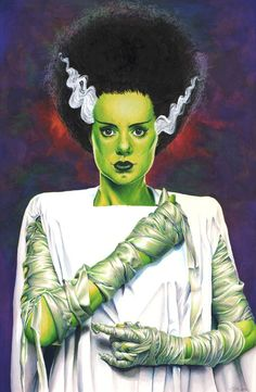 The Bride of Frankenstein Original Art from Foxy Art.net - Official Store