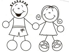 Boy And Girl Holding Hands Coloring Page Web Coloring