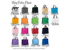 **The cut off for orders to be received by Christmas is Dec. 5th. All orders placed after the 5th will be produced and mailed in the normal production time frame. Feel free to convo me with any questions before you purchase.**  This listing is for 10 Monogrammed Tote Bags, This makes the perfect gift for the Bride, Bridesmaid, Maid of Honor, Mother of the Bride/Groom, Flower Girl, and Attendants. It is big enough you can fit all of the DAY OF essentials in here or use it to carry all of the…