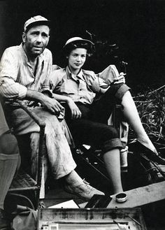 Humphrey Bogart and Lauren Bacall during the making of The African Queen