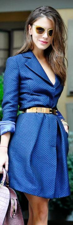 Gorgeous Royal Blue Street Style Fashion
