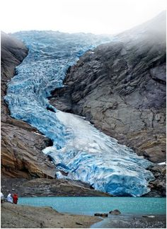 Briksdalsbreen (Briksdal glacier), Norway