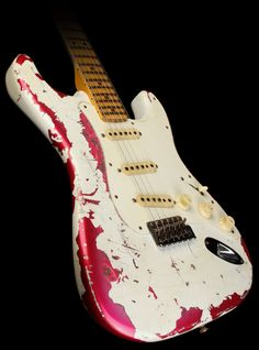 Fender Custom Shop olympic white over pink paisley relic?!?! What will they think of next? $6500