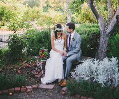 Fair Trade Bohemian Wedding Inspiration - dress: www.celia-grace.com