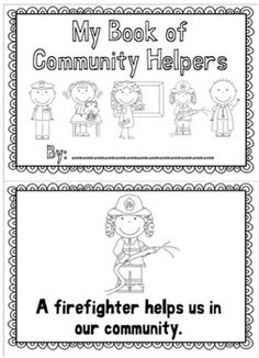 community helper writing activity