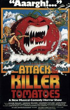 movie posters from 1980's | ... OF THE KILLER TOMATOES 2 - 1980s B Movie Posters Wallpaper Image