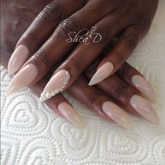 Natural and pearls #nails #nailart #london MAIL ME to get your nails did..sheadbeauty@gmail.com (Taken with Instagram)
