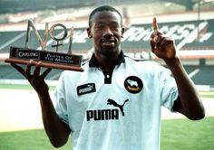 Paulo Wanchope with a Player of the Month Award English Football League, Derby County, Back In The 90s, Soccer Shirts, Football Team, Mens Tops, England, Collections, Club