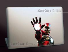 Iron Man vinyl sticker for Mac laptops by gingchok, $9.00
