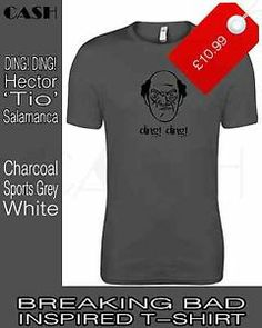 Hector 'Tio' Salamanca DING! DING! T-shirt. Breaking Bad. White/Grey/Charcoal