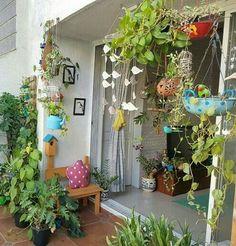 House With Balcony, Small Balcony Garden, Small Balcony Decor, Balcony Flowers, Indian Bedroom Decor, Home Decor Bedroom, Indian Home Interior, Indian Home Decor, House Plants Decor