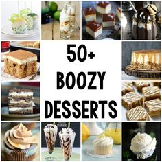 50+ Boozy Desserts - Cookie Dough and Oven Mitt