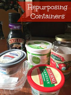 Instead of buying Tupperware, upcycle plastic containers you already have.