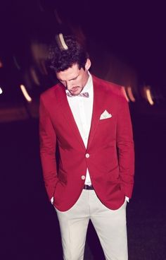 red and white #suit