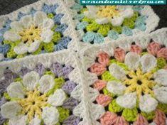 Transcendent Crochet a Solid Granny Square Ideas. Inconceivable Crochet a Solid Granny Square Ideas. Point Granny Au Crochet, Grannies Crochet, Beau Crochet, Crochet Motifs, Crochet Blocks, Granny Square Crochet Pattern, Crochet Squares, Love Crochet, Crochet Stitches