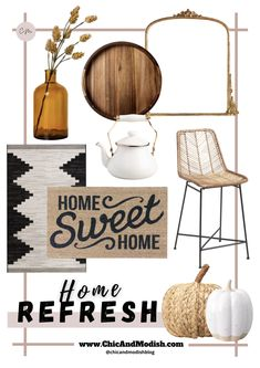 Quick and Easy Fall Home Refresh collage