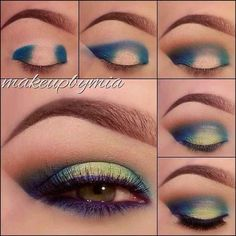 an easy two-toned effect with your eyeliner by adding a light, bright color to the center of the eyelid.Get an easy two-toned effect with your eyeliner by adding a light, bright color to the center of the eyelid. Beauty Make-up, Beauty Hacks, Beauty Tips, Natural Beauty, Beauty Care, Fashion Beauty, Beauty Style, Natural Makeup, Beauty Skin